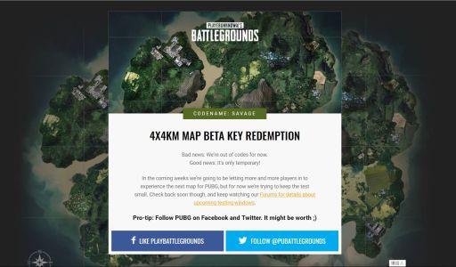 PUBG 絕地求生測試序號領取,新 4X4 地圖 Code name: Savage - 封面圖