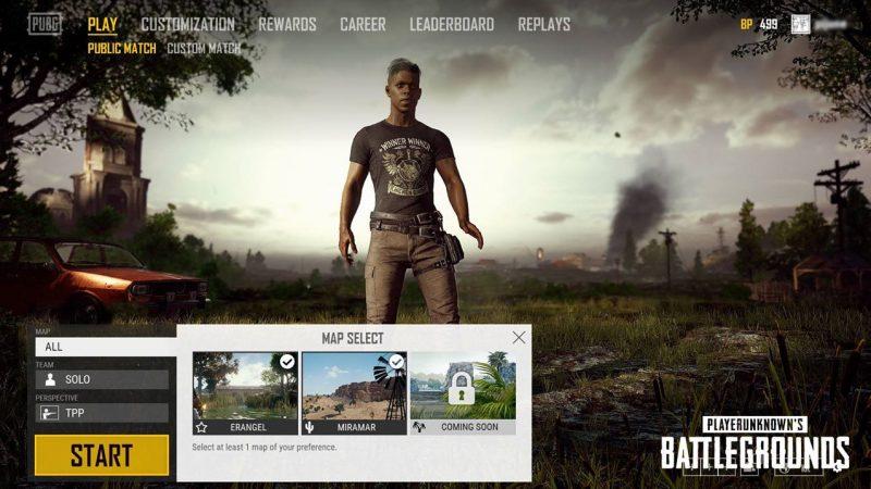 《PUBG 絕地求生》地圖選擇功能即將加入遊戲 - 封面圖